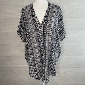PHILOSOPHY Black and White Poncho Style Top